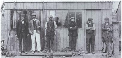 California Pit employees prior to flood of 1905 Photo courtesy Ian Bishop