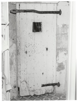 The Lock-Up door today; Photo courtesy Marleen Gallop