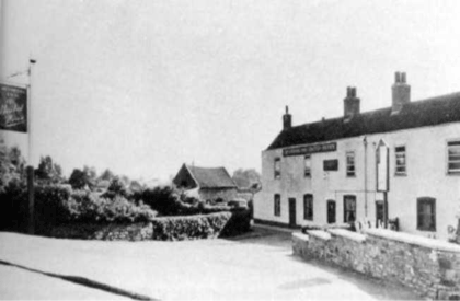 The Greyhound, West street Oldland Common, demoished in 1962; photo courtesy Bristo Records Office