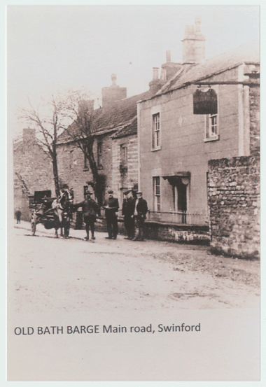 The Olde Bath Barge, Swineford, photo courtesy Bristol Records Office, the George Elliot Collection