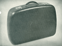 Suitcases,   produced in  24,  30 and 36 inch sizes.  All in fleck paint or vinyl covered  During motor industry downturns production was filled by producing non-automotive goods.