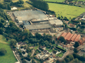 In 1980 an order was won to produce the facia panel for the first Astra to be launched in1985.  Space was at a premium , so the pond was pushed back again and another new building erected, identified by the darker colour roof.