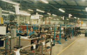 Vauxhall Astra facia panels were produced on a line employing around 20 people per shift