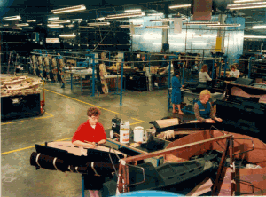 The facia panels were produced on a 'just in time basis'. i.e.. panels produced on the morning shift would be transported to the Vauxhall Elsmere Port assembly plant during the afternoon and built into cars on the night shift.