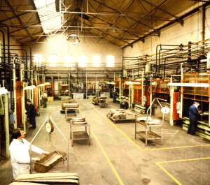 This moulding shop was used for small and low volume components.