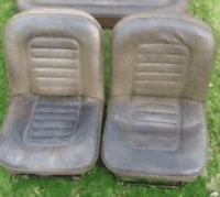 1963's Seats for the Morris & Austin 1100 series family car.  These were the first moulding produced at Bitton.  The seat pan was moulded and sent to the car plants where the upholstery and the covers were fitted.  Over 1 million seat pans were produced between 1963 and 1968.
