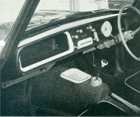 The fully assembled products in a Triumph Herald.  These components were also fitted to the Triumph Vitesse and the Spitfire sports car.
